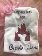 Castillo de Disney de 5-6 años de edad superior Personalizado Camiseta Traje Niñas 1-2 2-3-4