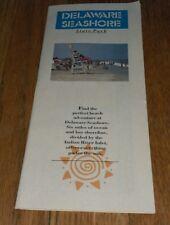 2008 Delaware Seashore State Park Brochure Map & Legend Rehoboth Beach ephemera
