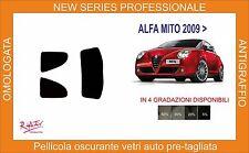 pellicola oscurante vetri alfa romeo mito 3 porte dal 2009 in poi kit posteriore