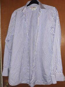 """Turnbull & Asser purple stripe  16"""" slim fit  shirt"""