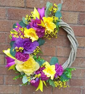 BESPOKE FLORAL RUSTIC DOOR/WALL WREATH DECORATION...