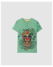 T-shirts et hauts verts à 4 ans pour garçon de 2 à 16 ans en 100% coton