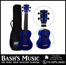 Mahalo MR1 Soprano Ukulele Beginner Starter with Bag Carry Case - BLUE