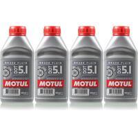 4x 0,5 Liter Original Motul 100950 Bremsflüssigkeit DOT 5.1 Brake Fluid