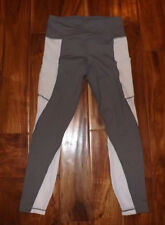 Nwt Womens Active Life Gray White Exercise Active Mesh Panels Pants Size M $89