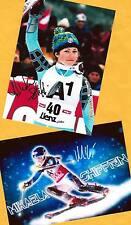 Mikaela shiffrin - 2 top autógrafo-imágenes (7) - Print copies + ski ak firmado