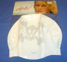 New WT Ladies Silicone Swim Swimming Cap Engine Swimwear Headwear Womans White
