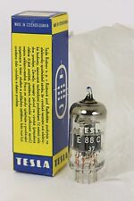 6922 E88CC CCa NOS TESLA SINGLE TUBES RHODIUM TUBE VRCHLABÍ PLANT (37) MILITARY