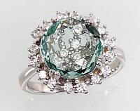 Silber Schmuck Damen-ring aus Sterling Silber 925° mit Zirkonia  18,0 mm