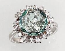 Silber Schmuck Damen-ring Sterling Silber 925° mit Kristall Zirkonia  18,0 mm