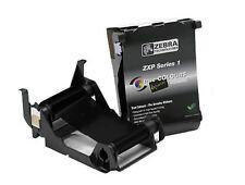 Zebra ZXP Series 1 ID Card Printer Black Mono Ribbon 1000 Image - 800011-101