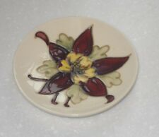 VINTAGE 1960/70s MOORCROFT PIN TRAY IN THE COLUMBINE PATTERN SHAPE No 780/4