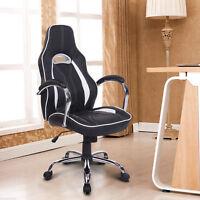 HOMCOM High Back Executive Racing Office Chair Swivel Computer Desk Seat