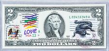 US Dollar Bills $2 Currency Notes Paper Money 2009 Gem Unc Gift Stamp Salamander