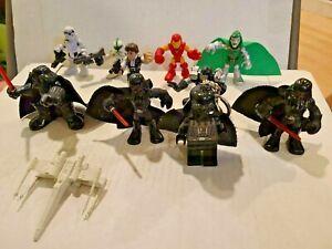 Star Wars Hasbro Playskool Heroes Darth Vader and Yoda Han Solo Marvel Mixed Lot