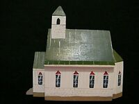 "American Hand Made Wooden St. John's Episcopal Church Art 5 1/2"" Long, NC"