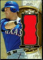 2013 Triple Threads Mike Olt /27, jumbo Texas Rangers game used Jersey relic