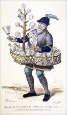 CRIS de PARIS: MARCHAND de VERRES & CRISTAUX du 15e s (Carnavalet) - Planche 19e