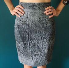 Genuine Butter Soft Grey Marble Australian Leather Skirt Size 10 💜