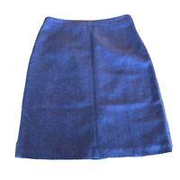 Coldwater Creek Pencil Skirt Wool Blend Tweed 6P Petite Purple Zipper Back lined