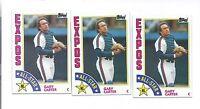 1984 TOPPS # 393 EXPOS GARY CARTER  CARD LOT