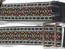 "Vintage 2"" WIDE HIPPIE CAMERA NECK STRAP  Used  #ST01"