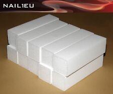 50 x Jeu de limes blanc granulation 120, 95/25/25mm / Tampon polissage bloc