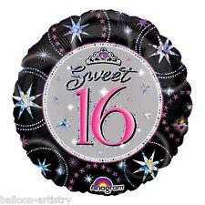 "18"" Round Sweet 16 Prismatic Foil Balloon Birthday 16th"