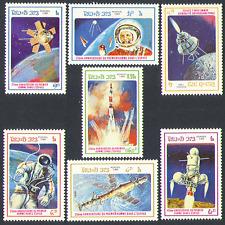 Laos 1986 Space/Rocket/Soyuz/Gagarin/Luna/Moon 7v b5273