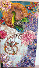 Punch Studio JEWELED LAVENDER PEACOCK NOTE PAD.    JUST GORGEOUS!