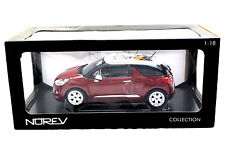 NOREV 2010 CITROEN DS3 SANGUINE RED WITH WHITE ROOF 1/18 DIECAST CAR
