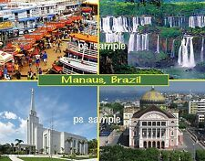 Brazil - MANAUS - Travel Souvenir FRIDGE MAGNET