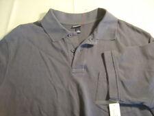Men's CHEROKEE Euro Blue Color Short Sleeve Polo Shirt Size L NWT