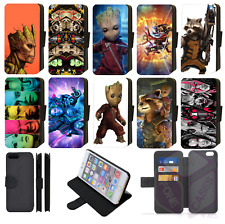 GUARDIANS OF THE GALAXY Wallet Flip Phone Case iPhone 4/5/6/7/8/X/XR/XS/XS Max