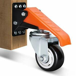 """Workbench Casters Kit 400KG Capacity, 3"""" Heavy Duty Retractable Casters 4"""
