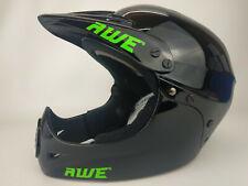 1 Casque BMX AWE Full Face Helmet Noir Taille M (54-58cm) NEUF DESTOCKE