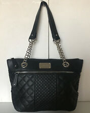 NEW! NINE WEST HIGHBRIDGE BLACK CHAIN MEDIUM SHOPPER TOTE BAG PURSE $89 SALE