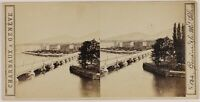 Geneve Suisse Foto Charnaux Stereo L6n9 Vintage Albumina c1865
