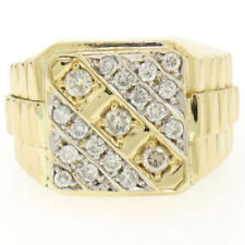 Joyería de oro amarillo de diamante de 18 quilates para hombre