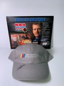 NASCAR Foundation hat and hero card autographed by Jeff Burton