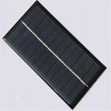 6V 1W Solar Panel Module DIY For Light Battery Cell Phone Toys Chargers Black