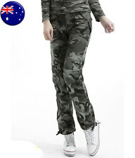 CLEARANCE Fashion Womens Cargo Pants Casual Military Combat Army Outdoor Pants