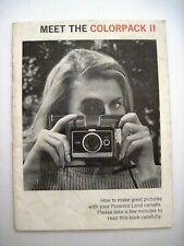 "1969 Instruction Booklet for ""Polaroid Land Camera"" w/ Lots of Pictures *"