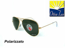 Ray Ban Aviator Large Metal 3025 001/58 Calibro 58 Polar Sunglass Occhiali Sole