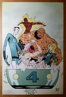 Deadpool Fantastic Four Marvel Comics Poster by Skottie Young