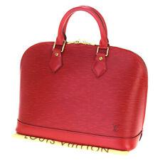 Authentic LOUIS VUITTON Alma GM  Hand Bag Epi Leather Red France M52147 35BM736