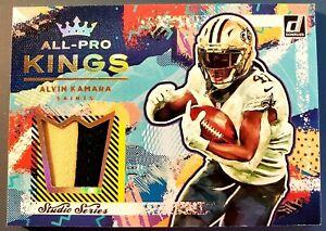 Alvin Kamara Patch 2021 Donruss All-Pro Kings Studio Series #'d 7/80 SAINTS