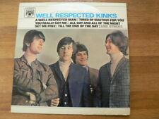 LP RECORD VINYL WELL RESPECTED KINKS MARBLA ARCH 1966 PYE RECORDS