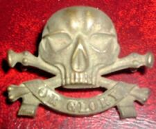 CAP BADGES-ORIGINAL VICTORIAN/QVC 17th LANCERS GOOD FIELD SERVICE CAP BADGE