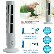 Portable USB Fan Tower Cooling Bladeless Dual Speed Office Laptop Computers PC